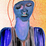 Blue Woman Art Print