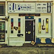 Blues Town Music Store Art Print