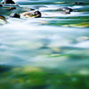 Blurred River Art Print