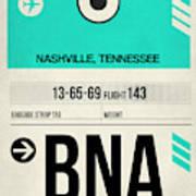Bna Nashville Luggage Tag II Art Print