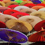 Bo Sang Umbrellas, Thailand Art Print