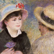 Boating Couple  Said To Be Aline Charigot And Renoir      Art Print