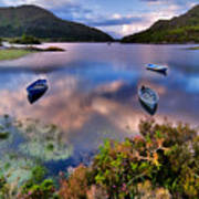 Boats On Water In Killarney National Art Print