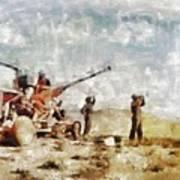 Bofors, Desert War, Wwii Art Print