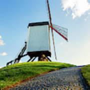 Bonne Chiere Windmill Bruges Belgium Art Print