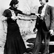 Bonnie And Clyde Art Print