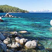 Bonsai Rock, Lake Tahoe, Panorama Art Print