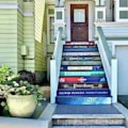 Book Stairs House Art Print