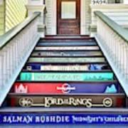Book Stairs Art Print