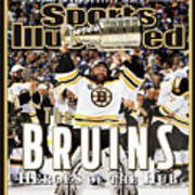 Boston Bruins, 2011 Nhl Stanley Cup Champions Sports Illustrated Cover Art Print