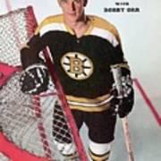 Boston Bruins Bobby Orr Sports Illustrated Cover Art Print