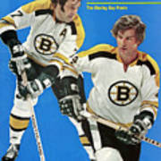 Boston Bruins Phil Esposito And Bobby Orr, 1972 Nhl Sports Illustrated Cover Art Print