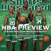 Boston Celtics Kevin Garnett, Ray Allen, And Paul Pierce Sports Illustrated Cover Art Print