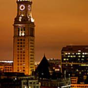Boston Clock Tower - Custom House Art Print
