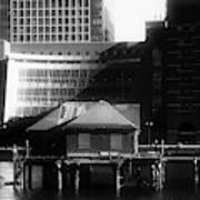 Boston Fort Point Channel Contrast Art Print