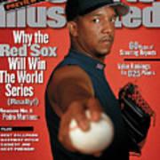 Boston Red Sox Pedro Martinez, 2000 Mlb Baseball Preview Sports Illustrated Cover Art Print