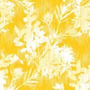 Botanical Silhouette Pattern Seamless Art Print