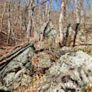 Boulders Along The Trail Art Print