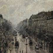 Boulevard Montmartre - Foggy Morning, 1987 Art Print
