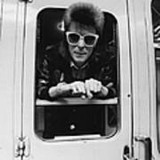 Bowie On The Rails Art Print