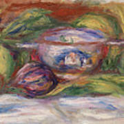 Bowl, Figs, And Apples, 1916 Art Print