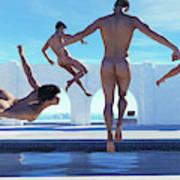 Boys Of Summer Pool Art Print