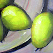 Breakfast Pears Art Print