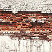 Brick Wall Falling Apart Art Print