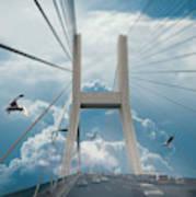 Bridge In The Clouds Art Print