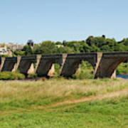 bridge over river Tyne at Corbridge in summer Art Print