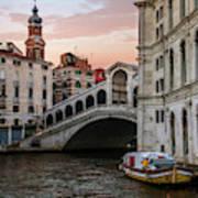 Bridges Of Venice - Rialto Art Print