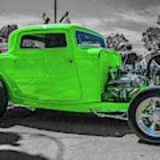 Bright Green Ford Art Print
