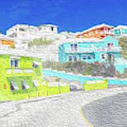 Bright Parish Life Bermuda Art Print