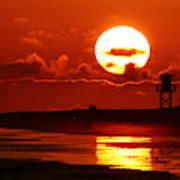 Bright Rota, Spain Sunset Art Print