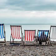 Brighton Beach Chairs Art Print