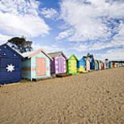 Brighton Beach Huts Art Print