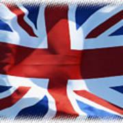 British Union Jack Flag T-shirt Art Print