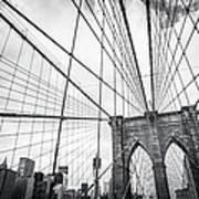Brooklyn Bridge And New York Skyline Art Print