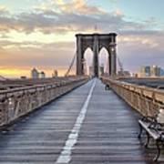 Brooklyn Bridge At Sunrise Art Print