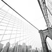 Brooklyn Bridge Cityscape Art Print