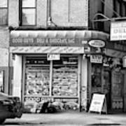 Brooklyn Deli Black White  Art Print