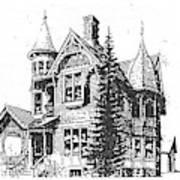 Brooks Hotel, Corvallis, Montana Art Print
