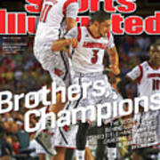 Brothers, Champions Louisville Wins National Championship Sports Illustrated Cover Art Print