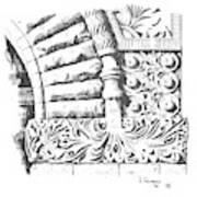 Brownstone Detail, Court House, Helena, Montana. Art Print