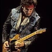 Bruce Springsteen Performs Live Art Print