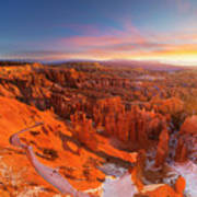 Bryce Canyon National Park At Sunset Art Print