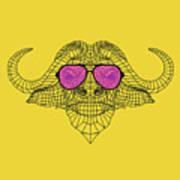 Buffalo In Pink Glasses Art Print