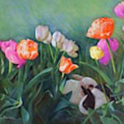Bunnies In The Blooms Art Print