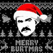 Burt Reynolds Christmas Shirt Art Print