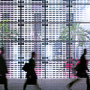 Business People Passing Modern Office Art Print